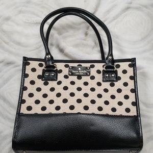 Kate Spade black polka dot purse
